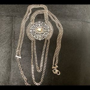 Chico's Medallion long necklace.